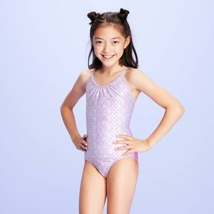 More Than Magic Pink Foil One Piece Swimsuit